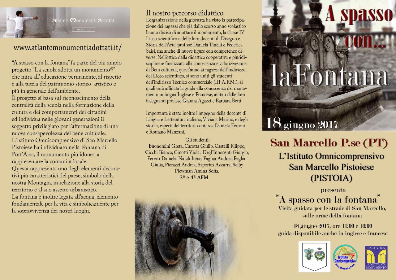 I C  SAN MARCELLO PISTOIESE – A spasso con la Fontana